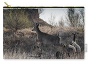 Whitetail In Flight Carry-all Pouch