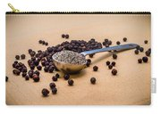 Whole Black Peppercorns With A Heaping Teaspoon Of Ground Pepper Carry-all Pouch