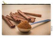 Whole Cinnamon Sticks With A Heaping Teaspoon Of Powder Carry-all Pouch