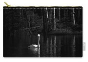 Whooper Swan In Bw 1 Carry-all Pouch