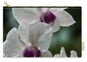 Whte Orchids Carry-all Pouch