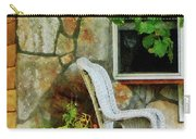 Wicker Rocking Chair On Porch Carry-all Pouch