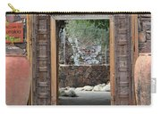 Wider Shot Stone Garden Wall And Clay Urns Carry-all Pouch