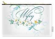Wifey New Bride Dragonfly W Daisy Flowers N Swirls Carry-all Pouch