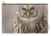 Wild Barred Owl With Prey Carry-all Pouch