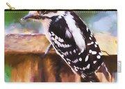 Wild Birds - Downy Woodpecker  Carry-all Pouch