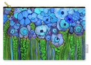 Wild Blue Poppies Carry-all Pouch
