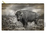Wild Buffalo In Yellowstone Carry-all Pouch