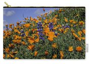 Wild California Poppies And Lupine Carry-all Pouch