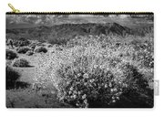 Wild Desert Flowers Blooming In Black And White In The Anza-borrego Desert State Park Carry-all Pouch