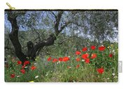 Wild Flowers And Olive Tree Carry-all Pouch
