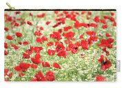 Wild Flowers Meadow Spring Scene Carry-all Pouch