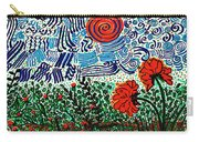 Wild Flowers Under Wild Sky Carry-all Pouch