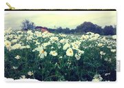 Wild Flowers White Carry-all Pouch