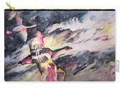 Wild Geese Flying In A Snow Storm Carry-all Pouch