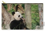 Wild Giant Panda Bear Eating Bamboo Shoots Carry-all Pouch