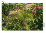 Wild Grasses And Red Clover Carry-all Pouch