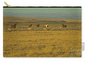 Wild Horses And Antelope-signed-#2216 Carry-all Pouch