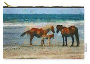 Wild Horses Of The Outer Banks Carry-all Pouch