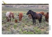Wild Horses Of White Mountain Carry-all Pouch