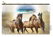 Wild Horses On The Beach Carry-all Pouch