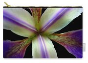 Wild Iris Macro On Black Carry-all Pouch