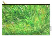 Wild Meadow Grass Structure In Bright Green Tones, Painting Detail. Carry-all Pouch