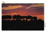 Wild Mustangs At Sunset Carry-all Pouch