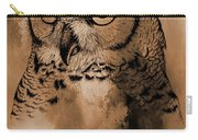 Wild Owl Eyes Carry-all Pouch