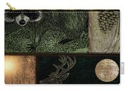 Wild Racoon And Deer Patchwork Carry-all Pouch