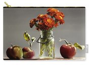 Wild Red Apples With Marigolds Carry-all Pouch