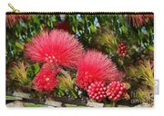 Wild, Red Fluffy Flowers  Carry-all Pouch
