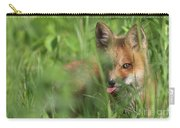 Wild Red Fox Puppy Carry-all Pouch