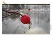 Wild Rose Hip On Mississippi River Bank Carry-all Pouch