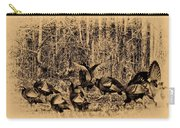 Wild Turkeys Carry-all Pouch by Bill Cannon