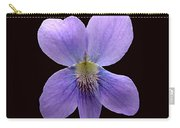 Wild Violet On Black Carry-all Pouch