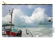 Wild Waves In Cornwall Carry-all Pouch
