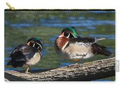 Wild Wood Ducks On A Log Carry-all Pouch
