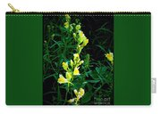 Wild Yellow Flowers On Black Background Carry-all Pouch