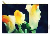 Wild Yellow Flowers On Dark Background Carry-all Pouch