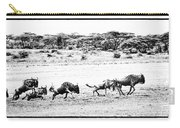 Wildebeest On The Move Carry-all Pouch