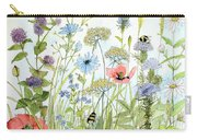 Wildflower And Bees Carry-all Pouch