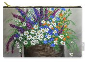 Wildflower Basket Acrylic Painting A61318 Carry-all Pouch
