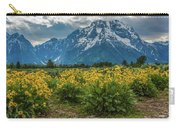 Wildflowers And Mount Moran Carry-all Pouch