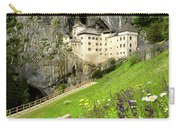 Wildflowers On Hillside At Predjama Castle 1570 Renaissance Fort Carry-all Pouch