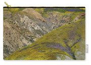 Wildflowers Up The Hills Of Temblor Range At Carrizo Plain National Monument Carry-all Pouch