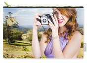 Wildlife Photographer Shooting Insects And Nature Carry-all Pouch
