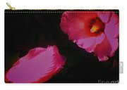 Wildly Pink On Black Flower Carry-all Pouch