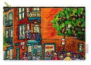 Wilensky Diner Little League Expo Kids Baseball Painting Montreal Scene Canadian Art Carole Spandau  Carry-all Pouch