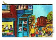 Wilensky's Counter With School Bus Montreal Street Scene Carry-all Pouch